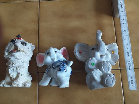 ceramiczne figurki słoniki szczęścia