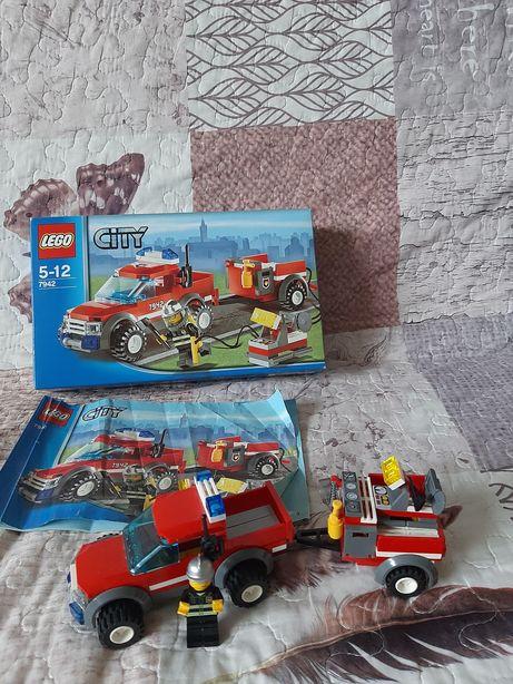 Lego city 7942 wóz funkcyjny z przyczepa straż pożarna