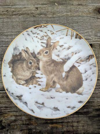 Винтаж: Коллекционная настенная тарелка The Forest Year.