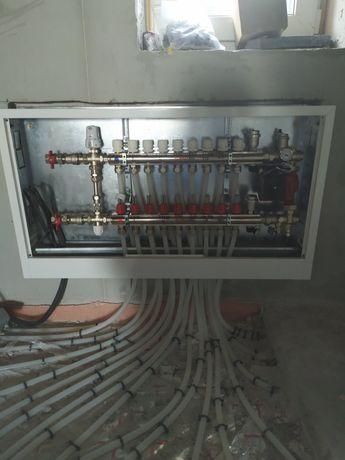 Теплые полы отопление разводка пайка труб тепловой насос сантехник