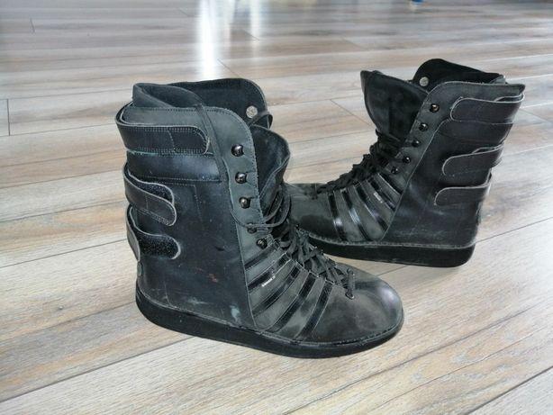 Buty na motor motocyklowe skórzane czarne wysokie 26 40 41