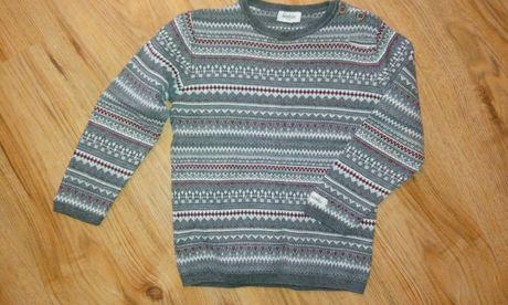 Newbie 2-4 lata,98/104 sweter,norweski wzor,swieta