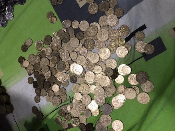 Монеты украины редкие, 25,10, 50 копеек, гривна мелочь коллекция 1992