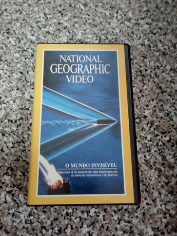 VHS Cassate National Geographic O Mundo Invisíbel 91