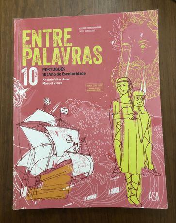 """Manual """"Entre Palavras"""" + caderno de atividades - 10 ano"""