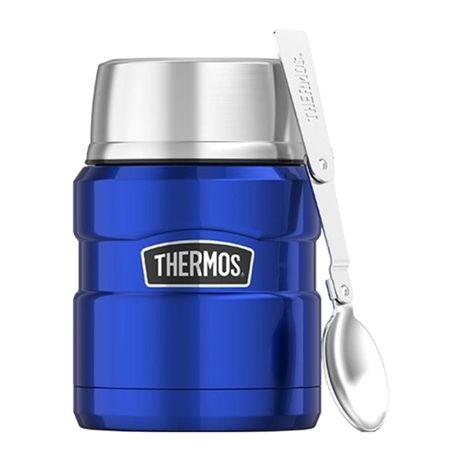 АКЦИЯ! Термос для еды детский Thermos с ложкой 470 мл Голубой оригинал