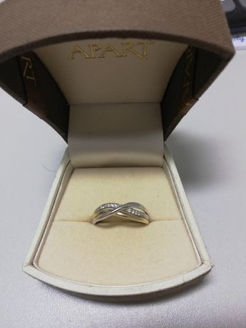 Apart złoty pierścionek z diamentami rozmiar 19