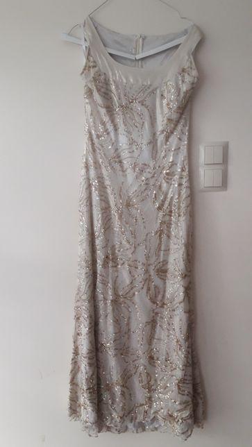 Sukienka długa cekiny wesele rozm. 38