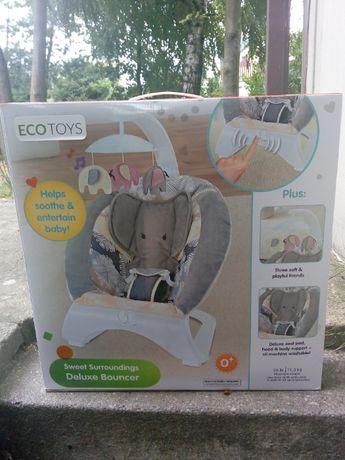 Eco Toys Leżaczek- Bujaczek