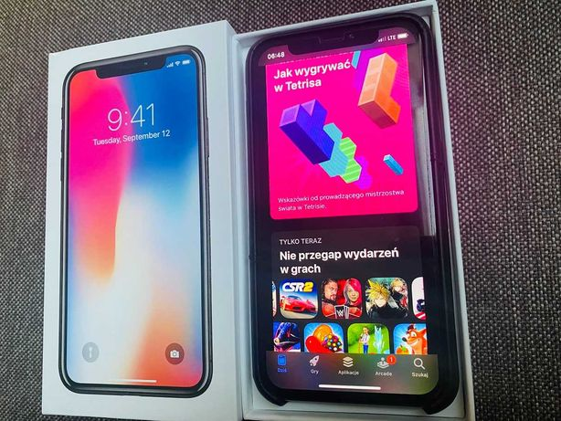 Apple Iphone X 64GB Silver Super stan, dodatki ekran