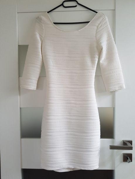 Biała sukienka AMISU New Yorker S