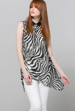 Letnia bluzka zebra zwiewna lato monnari 38 M