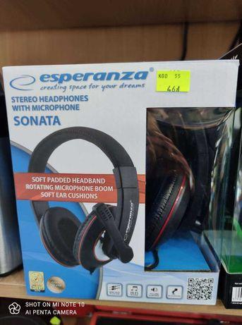 Słuchawki Do Komputera z Mikrofonem  Nowe Esperanza Lombard Madej SC
