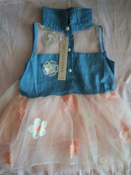 Продам новое летнее платье для девочки 1-2 годика
