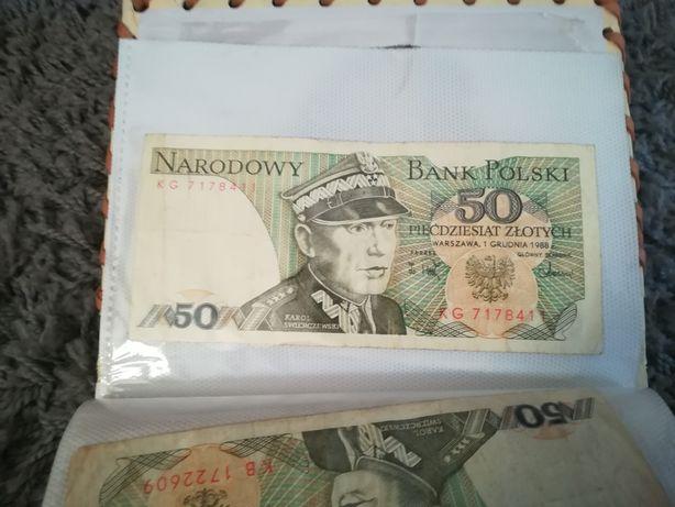 Stary banknot Polski, 50 złotych