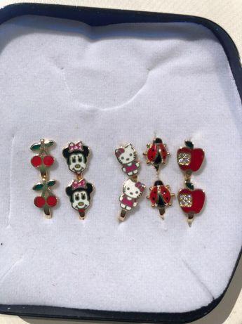 Золотые сережки детские
