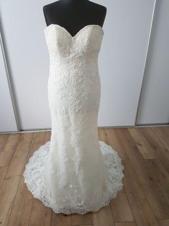 Sukienka ślubna syrenka, koronowa kolor Ivory Nowa