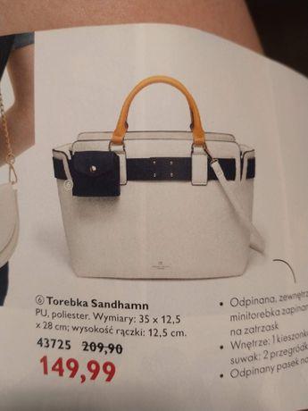 Nowa Biała torebka,pojemna