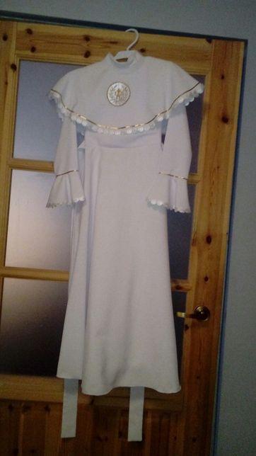 Sukienka Alba komunijna dziewczęca impressja długa 128-130