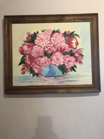 Obraz ręcznie malowany w pięknych kolorach .