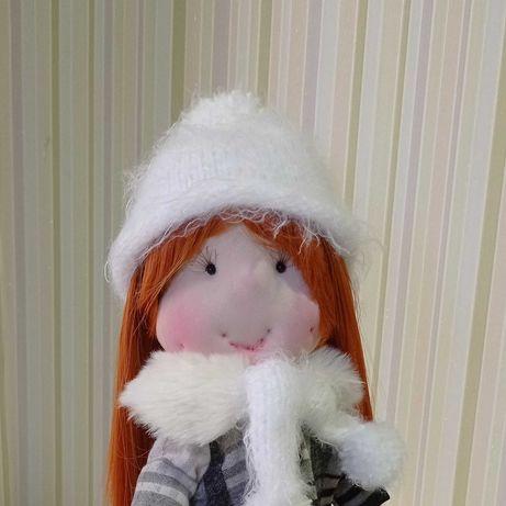 Игровая текстильная кукла ручной работы
