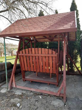 Wyjątkowa huśtawka 6-osobowa, stolik, altanka, meble ogrodowe. FILM