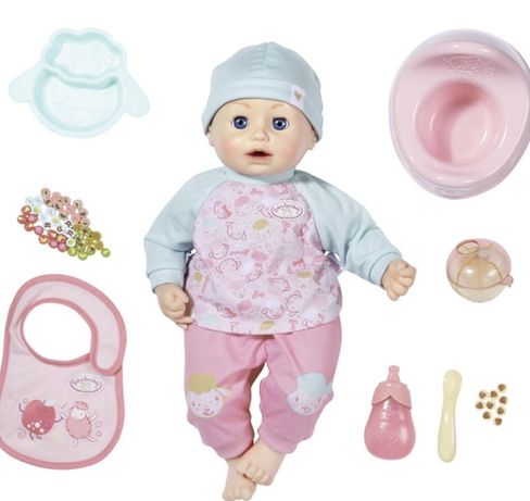 Sprzedam lalke bobasa baby annabell lunch time zestaw z jedzeniem born