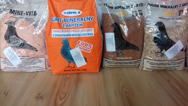 Grit mineralny, Karmy dla gołębi