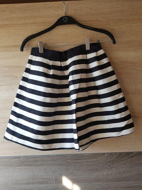 H&M spódnica w paski czarno kremowe 36 S