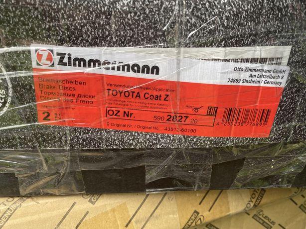 Тормозные диски для Toyota Prado (Тойота Прадо) ZIMMERMANN 590.2827.20