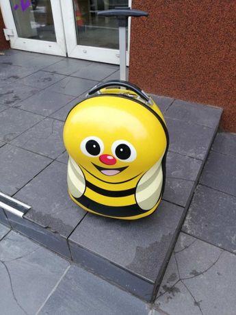 Чемодан детский пластиковый дорожный Babycase Пчелка 42 см 2 колеса
