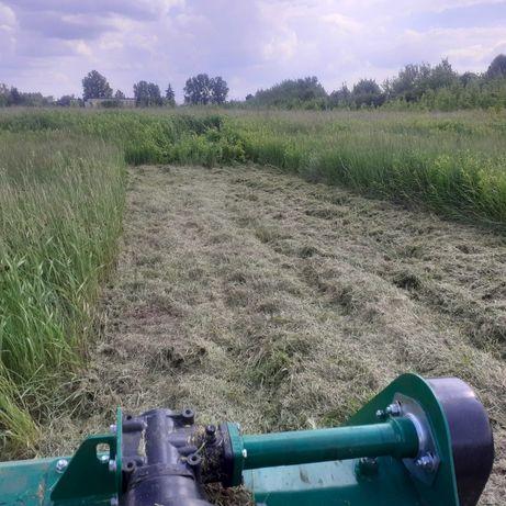 Koszenie trawy, nieużytków - Kosiarka bijakowa - Łask , Pabianice