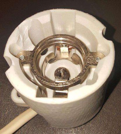 casquilho de ceramica - terrario/terrarios /repteis/aquecimento