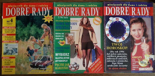 DOBRE RADY numery archiwalne czasopisma z lat 1995 i 1996 zestaw