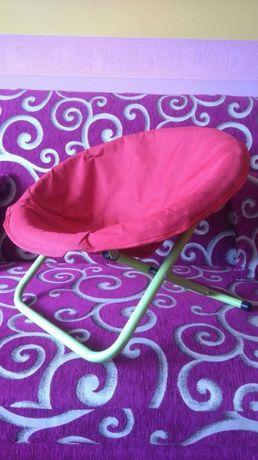 Mini leżaczek - składane krzesełko turystyczne