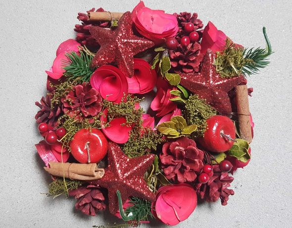 Wianek Świąteczny stroik na cmentarz. Boże Narodzenie (3)