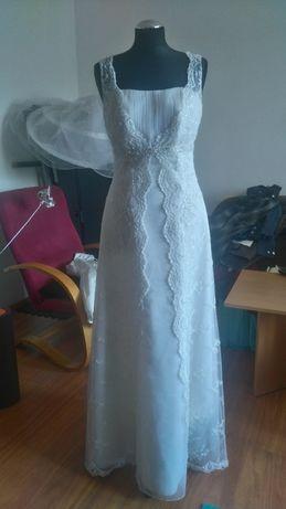 Suknia ślubna dla osoby na wzrost 165 cm plus obcas 11 cm