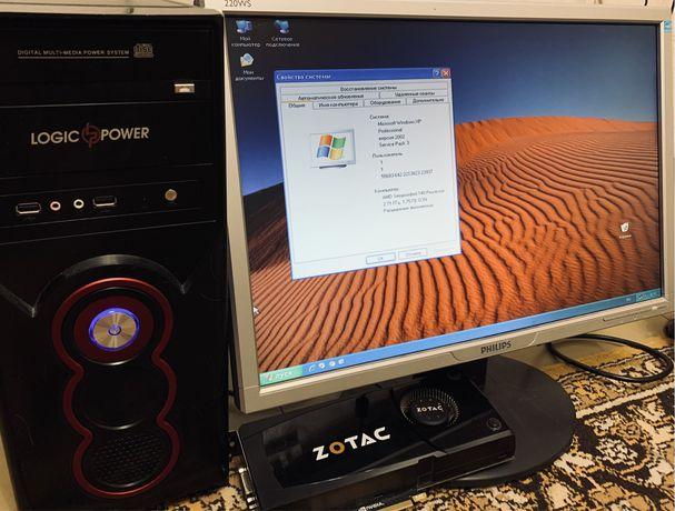 Компьютер офисный (монитор, системный блок)
