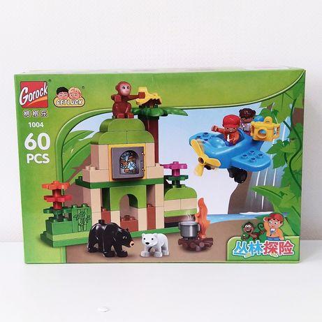 Gorock 1004 Приключение в джунглях аналог Лего дупло lego duplo звери
