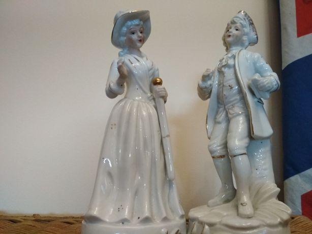 2 piękne figurki porcelanowe.