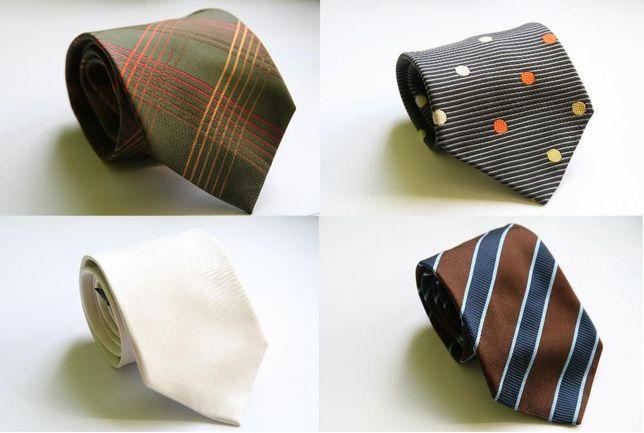 Markowe Krawaty różne wzory i kolory - 100% jedwab