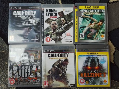 Gry PlayStation 3 call of duty, Uncharted, killzone, sleeping dogs
