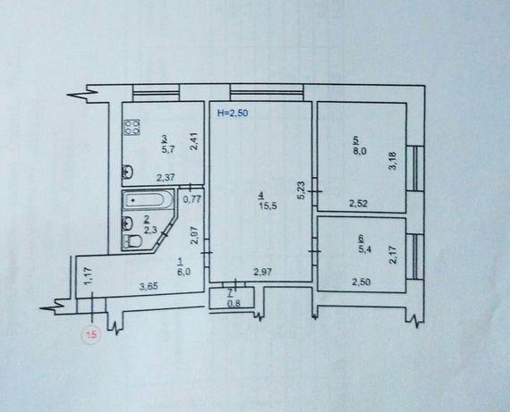 Сдается 3х комнатную квартиру по ул. Озерная