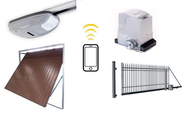 Automat, napęd do bramy wjazdowej, gażowej, domofon - montaż i serwis