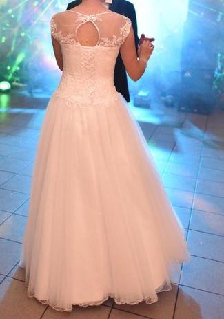 Suknia Ślubna 36-38 PRINCESSA (szyta na miarę)Cena do negocjacji !!!