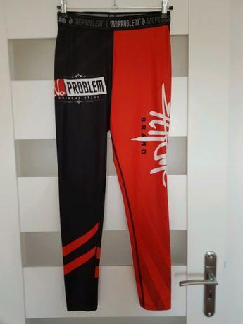 NoProblemSport, rashguard, legginsy sportowe, unisex, czerwone XL