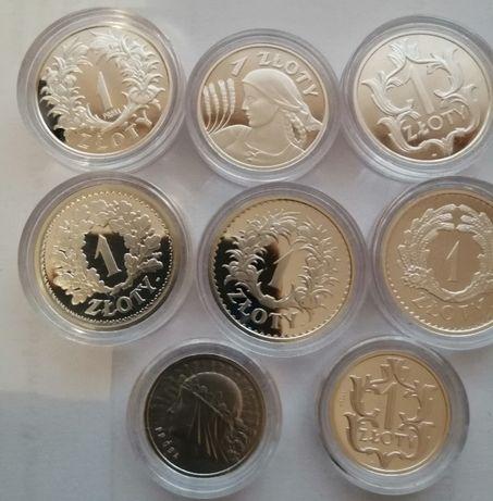 Repliki obiegowych i próbnych monet 1 złotowych okresu międzywojennego