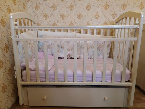 Детская кровать, ортопедический матрац