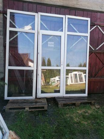 Okno balkonowe 270 x 270 drzwi tarasowe używane