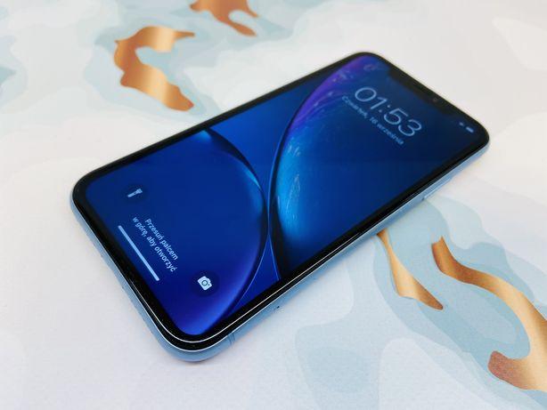 iPhone XR 64GB BLUE • GWAR 12 msc • DARMOWA wysyłka • FAKTURA